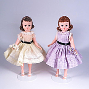 Vintage Garden Dresses to Fit Cissette by Madame Alexander