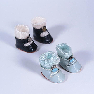 Vintage Oilcloth Center Snap Shoes for Ginny