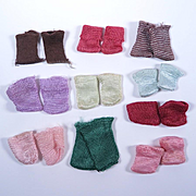 Ten pairs of Vintage Socks for Ginny, Alexander-kins, Muffie and Others