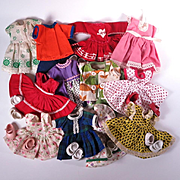 Collection of Outfits to fit 8 inch dolls Ginny Muffie and Others