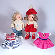 Strung Muffie Dolls by Nancy Ann with Outfits