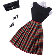 Vintage Barbie Pert Skirt in HTF Ken A Go-Go Fabric by Mattel