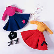 Little Miss Revlon Variations #9212 Sweater and Felt Skirt by Ideal