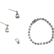 """Rhinestone Necklace, Earrings and Ring for 18"""" Miss Revlon Doll and Others"""