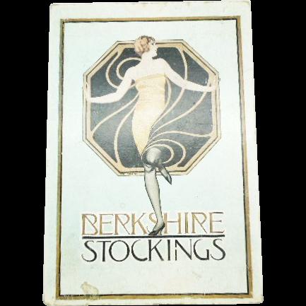 Art Deco Berkshire Stockings box