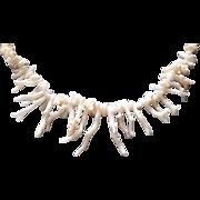"""Vintage Angel Skin Branch Coral 20.5"""" Necklace"""