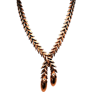 Rare Renoir long Leaves Necklace
