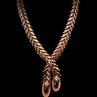 Rare Renoir long Leaves Necklace