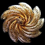 COROCRAFT dimensional Pinwheel Flower brooch