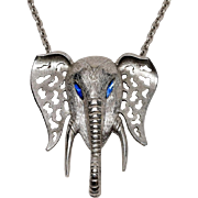 1970s Huge signed Celebrity Elephant Necklace