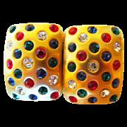 80's Club Earrings Quality Rhinestone Earrings