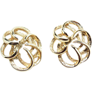 "Sarah Coventry ""Tailored Swirl"" earrings 1960's"