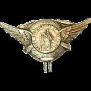 St Christopher Large Winged Medal Clip