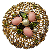 "Sarah Coventry Brooch ""Fashion Splendor"""