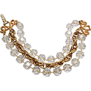 "Sarah Coventry ""Golden Ice"" bracelet"