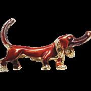 Vintage Hound Dog Brooch -