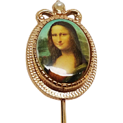 Sarah Coventry Mona Lisa Stick Pin