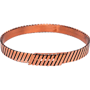 Renoir Modernist Linear Lines Copper Belt SZ Small
