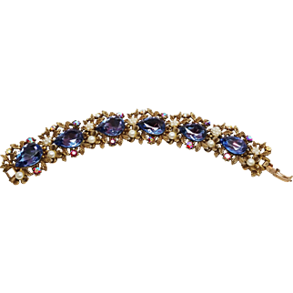 Stunning ART bracelet Lavender and pearl