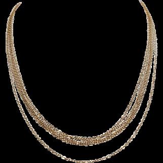 Stunning and unusual 14K multi strand fine chain 5 strand