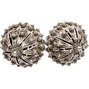Antique Hamburg Region Silver filigree Peasant Screwback Earrings