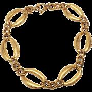 Chunky 1980's Ann Klein Gold Tone Necklace