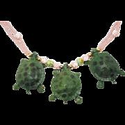 Crazy 1970s plastics Turtle Necklace