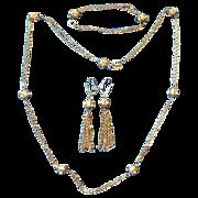 "Sarah Coventry ""Chain-O-Lites"" Set necklace earring bracelet"