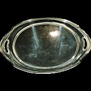 "Stunning Signed International Silver Sterling Large Platter Serving Tray Monogram ""S"" 74 Troy OZ"