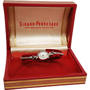 Girard - Perregaux Ladies Watch in 14K White Gold and Diamonds w stretch band