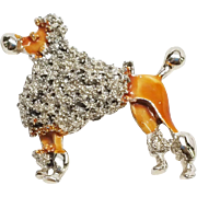 Aristocratic Enamel Poodle Pin brooch
