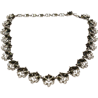 Stunning Smoke and Ice Bogoff Rhinestone necklace