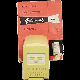 Vintage Frigidaire Butter Pre-Server, Butter Storage With cutter/server  / original booklet
