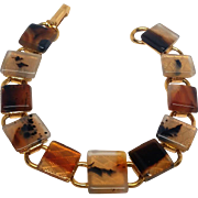 Wonderful simple vintage Moss Agate bracelet