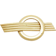 Art Deco Celluloid Emblem Pin Brooch