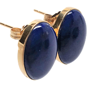 Stunning 14K yellow gold Lapis Lazuli pierced Earrings