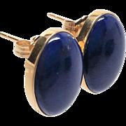 Stunning 14K yellow gold Lapis Lazuli pierced Earrings