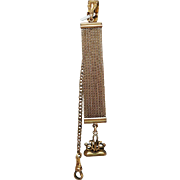 Heavy Gold Wash Watch FOB with Wax Seal signed H&H