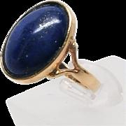 14K Lapis Lazuli Ring -1970's