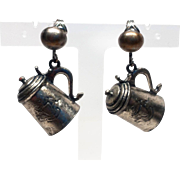 Super Tankard with Coat of Arms clip earrings