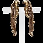 Cascading Faux Pearl Earrings