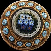 Super Victorian Micro-Micro Mosaic Mini Pin
