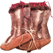 Original Old Handmade Eskimo Boots Unworn - Red Tag Sale Item