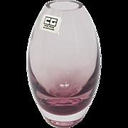 Caithness Glass Scotland lavender pink vase