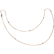Dainty 14K yellow Gold Chain with Stationary Balls