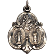 Sterling Religious Saints charm pendant St Christopher Mary Jesus