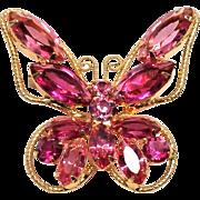 JULIANA Butterfly Brooch in Pink