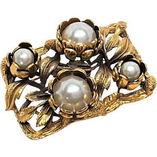 Outstanding Raised Floral Brooch