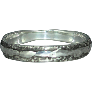Mans Woman's Organic Rustic Alternative Wedding Casual Wear Unique Ring Band