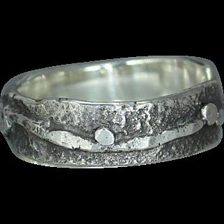 Mans Woman's Organic Rustic Custom Alternative Wedding Casual Wear Unique Ring Band